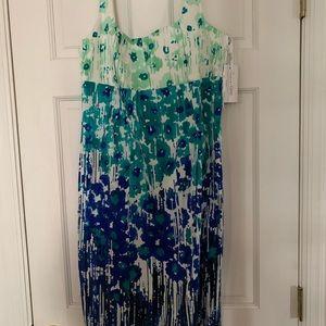 Calvin Klein coattail dress!   Beautiful colors!!